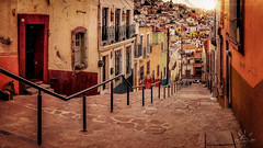Walking Through (http://sotochristian2.500px.com/) Tags: morning sunset panorama sun art sunshine sunrise landscape mexico stitch zacatecas callejon autopanopro ninjanodal wclx100 fujifilmx100t