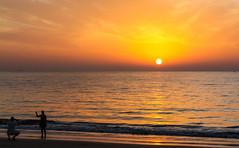 Canary Islands - Sunrise (Bilder von unterwegs) Tags: ocean sunset people sun yellow sunrise island spain europe eu lanzarote canary canaryislands