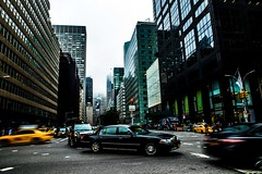 Intersection (Tamara Dobry) Tags: new york nyc city buildings empire state building manhattan met life people journalism black white flat iron chaos panning motion blur cars business taxis grand central station clouds fashion travel photography sigma lens nikon d610 full frame tamara dobry red mill village clinton jersey high views