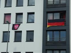 Kannst Dir die Nachbarn nich aussuchen  (mkorsakov) Tags: city flags hafen mnster innenstadt flaggen antifa nachbarschaft schland