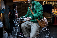 On the Way |  (francisling) Tags: street fish bicycle japan tokyo alley market sony crowd streetphotography tsukiji   alpha hawkers  5n      nex5n