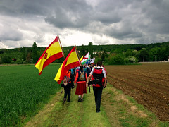 The Chartres to Paris pilgrimage, 2013 (astorg) Tags: sky france skyline catholic pilgrimage sspx