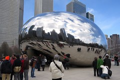 The Bean (Larry Myhre) Tags: sculpture chicago illinois milleniumpark cloudgate thebean