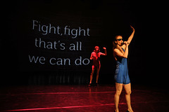 Magda Tuka, Anita Wach (Pl):Fight, fight  thats all we can do (Stanica ilina-Zrieie) Tags: dance fight performance anita magda tuka visegrad wach ilina tanec stanica zrieie