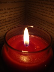Reading by Candlelight #flickr12days (lc_402) Tags: winter reading candle warmth poweroutage flickr12days
