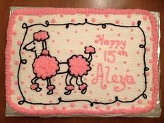 Pink Poodle Cake, Triad Area, NC, www.birthdaycakes4free.com