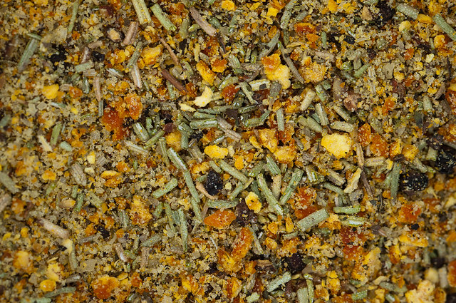 cooking pepper salt mint rosemary mandarin peel rub