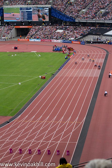 A smaller winning margin than usual for Hannah Cockroft, London Paralympic Anniversary Games, Olympic Stadium