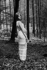 Woods (Charmaine de Heij) Tags: bw nature fashion vintage ginger model woods forrest grunge nat indie conceptual cdh