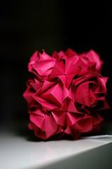 Lotus Crown with Kawasaki Rose (talina_78) Tags: roses origami modularorigami kusudama toshikazukawasaki mariasinayskaya lotuscrown