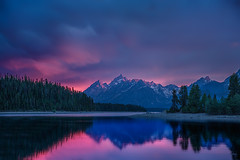 Late Teton Sunset Light (Jerry T Patterson) Tags: park camping autumn sunset camp horse cloud lake west flower fall sunrise canon river waterfa