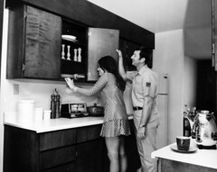 modular home kitchen 1971 (army.arch) Tags: house home kitchen vintage photo 1971 george historic modular afb georgeafb