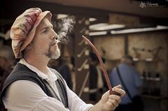 The BIG Piper ! (Varman Fotographie) Tags: wisconsin bristol nikon smoke pipe curls cigar milwaukee faire smoky smoker renaissance kenosha d7000 cigarpipe bigpiper