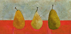 Annie O'Brien Gonzales- Trois Poire - Matthews Gallery (Matthews Gallery) Tags: red stilllife newmexico santafe southwest green art fruit painting french grey juicy artist pears paintings artists painter pear oil painters southwestern canyonroad matthewsgallery annieobriengonzales