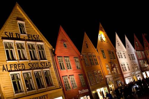 Bryggen in Bergen by Night by -LucaM- Photography WWW.LUCAMOGLIA.IT, on Flickr
