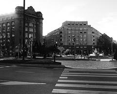 Moyua (ines valor) Tags: plaza bw fuente bilbao moyua pasocebra elptica