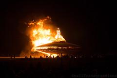 The Man Burns! (SmallTransgressions) Tags: city man black rock night cargo burning burn burns cult 2013