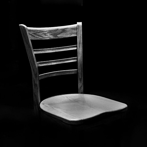 An empty chair.
