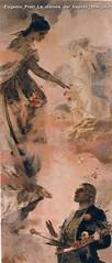 Eugenio Prati La visione del tiepolo 1896 olio su tela 245 x 105 cm Collezione privata