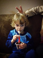 359 of 365 - Silly ([ the black star ]) Tags: boy 3 girl kid eating fingers pudding things kingston stuff wife rabbitears angela shrug preschooler threehundredfiftynine 359365 theblackstar thelittlemister uploaded:by=flickrmobile flickriosapp:filter=nofilter usingbothendsofhisspoon