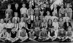 Cosby Junior School Class (theirhistory) Tags: uk school girls boys children shoes dress sandals tie skirt junior gb shorts wellies primary jumpeer