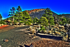 Mountain - Sunset Crater Volcano National Monument - Arizona - 14 November 2013 (goatlockerguns) Tags: trees arizona usa southwest west nature america volcano nationalpark natural unitedstatesofamerica volcanic nationalmonument sunsetcratervolcano