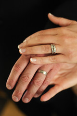 just married (catklein) Tags: wedding hands rings justmarried ido gettymoment