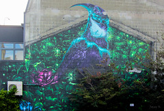 Standing Out (Jocey K) Tags: newzealand christchurch building bird art painting colours murals cbd archtiecture