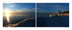 Sunrise at North Point (sperophotography) Tags: lake ice water lakemichigan northpoint tych sunsunrise