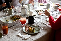 and also spinach strata, blood orange mimosas and bloody marys (smitten) Tags: cooking frenchtoast brunch breadpudding