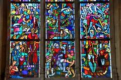 Montdidier (Somme) - Eglise du Saint-Spulcre - Vitrail de Jacques Gruber, 1939 (La premire croisade) (dtail) (Morio60) Tags: gruber vitrail 80 glise picardie vitraux somme montdidier saintspulcre