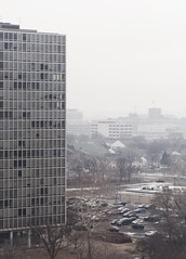 hazey (cityNnature) Tags: architecture vintage haze detroit modernism neighborhood miesvanderrohe urbandesign lafayettepark urbanrenewal midcenturymodern lafayettetowers winterugh