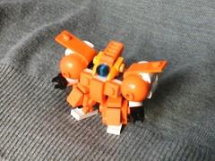 Space Team - Gladiator (3rd pp. shot) (Jandyman) Tags: orange white robot ship lego space micro scifi sciencefiction spaceship mecha mech moc microscale spaceteam flickrandroidapp:filter=none