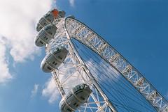 London Eye (Major Liggs) Tags: blue sky london eye 35mm nikon sunny nikkor dslr d7000