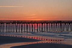 Sun peeking out of the water (Mysophie08) Tags: sunrise rebel myrtlebeach southcarolina infocus highquality friendlychallenges thechallengefactory herowinner gamesweepwinner