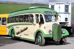 140107-JTB749-AEC Regal III-Florence Motors. (day 192) Tags: bus buses regal brough aec vintagebus transportshow classicbus preservedbus aecregal transportrally jtb749 florencemotors kirkbystephenclassiccommercialvehiclerally