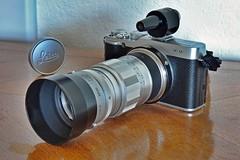 they all get along (Riex) Tags: leica zeiss lens gear shade adapter hood fujifilm torpedo 90mm ikon f28 hdr viewfinder schneiderkreuznach elmarit xm1 explored mmount torpille viseur variogon ernstleitzwetzlar iufoo z990 kodakeasysharemax