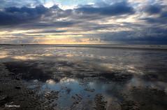 Coucher de soleil (didier95) Tags: mer reflet ciel normandie nuage paysage plage coucherdesoleil cabourg fabuleuse