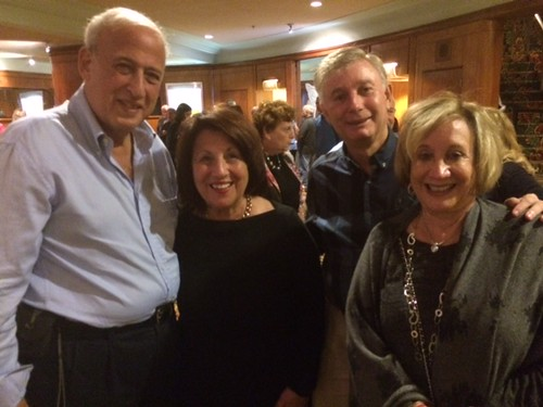 Larry and Barbara Stein, founders of the Actors  playhouse theater in Coral Gables, with donors Zelda and John Schwebel at the production of Ragtime