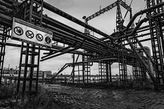 'Petrol' 06 (jefvandenhoute) Tags: blackandwhite industry monochrome lines photoshop nikon mood belgium belgique shapes belgië antwerp antwerpen industrialarcheology antwerpenzuid nikond800 photoshopcs6