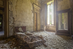 Out of Bed (klickertrigger) Tags: house abandoned window bed bedroom decay dirty dirt dust