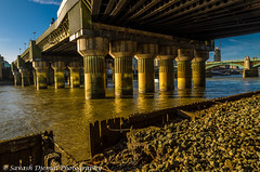 DSC_3576.jpg (Sav's Photo Gallery) Tags: city uk abstract london beach thames river shadows rope shard riverthames brickwork railwaybridge southwarkbridge d7000 savash