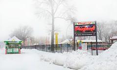 Playland Parking (floralgal) Tags: snow amusementpark rides playlandpark ryenewyork westchestercountynewyork playlandparkryenewyork winteramusementpark winteratryeplayland