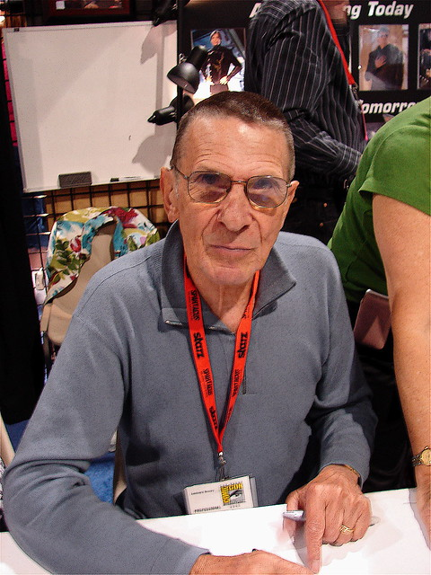 LEONARD NIMOY poses for a picture.
