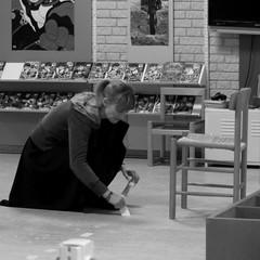 At work (Landanna) Tags: bw white black zwart wit atwork sort hvid zw aanhetwerk