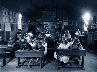 Pupils of the Mokowhai School, Manawatu, 1900