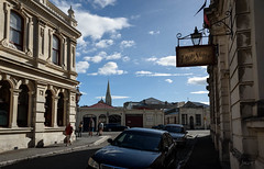 In the Shadows of Time (Jocey K) Tags: autumn newzealand people building lamp sign architecture southisland oamaru southcanterbury tripdownsouth