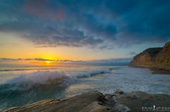 Incoming (ihikesandiego) Tags: sunset beach rock san flat diego pines torrey