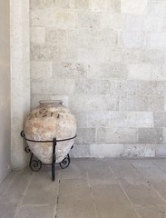 In the coolness of the cloisters of Almeria cathedral (juliavhill) Tags: history urn spain cathedral andalucia vase almeria cloisters almeriacity