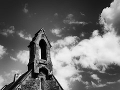 Clouds (_mr_dave_) Tags: sky blackandwhite cloud white black church monochrome cemetery graveyard contrast zeiss dark mono blackwhite moody chapel monotone portsmouth nik southsea carlzeiss highlandroad eastney sonyalpha silverefex fe55mmf18 sonya7rii sic2017